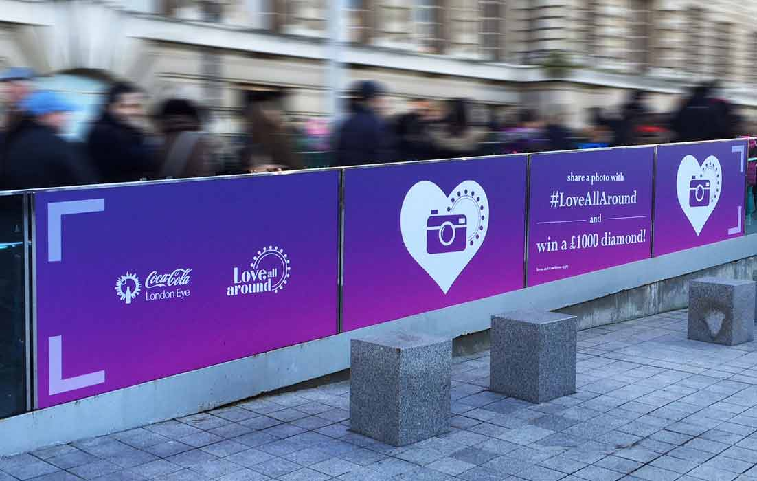 Valentines Day Promotional Printed Window Wrap Graphics