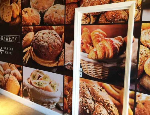 Retail Branding for Bakery: Printed Graphic Wall Wraps